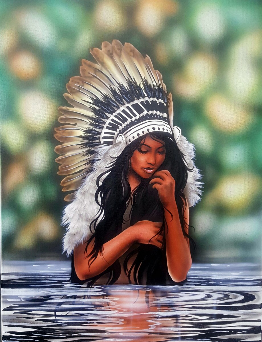 How to Airbrush a Native American Princess